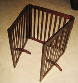 Tri-Fold Wood Pet Gate in Chicago, Illinois