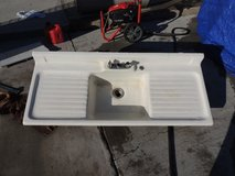 large 5 foot metal sink industrial style 2034267 white  51034 in Huntington Beach, California