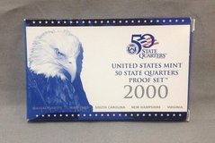 2000 us mint proof set 50 state quarters 5 coins with box and coa in Camp Lejeune, North Carolina