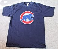 NWOT Chicago CUBS Short Sleeve Blue Cotton T-Shirt, Large Cubs Stitched Logo, Medium in Chicago, Illinois