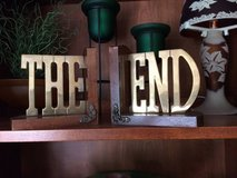 "Vintage Brass Book Ends that say""THE END"" in Bartlett, Illinois"
