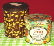 VINTAGE ASSORTED BUTTONS - 2 TINS in St. Charles, Illinois