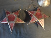Hanging Red Star Tealight Holders (Set of 2) in Wilmington, North Carolina
