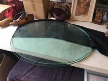 Glass OVAL Table Tops (2) Thick & Heavy in Wilmington, North Carolina