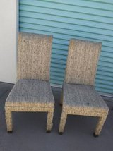2 chairs of unknown fabric - some type of animal hair? in Roseville, California