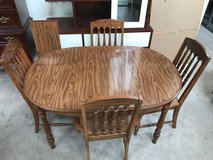 5pc Oak/Laminate Table Top Dining Set-Basset in Plainfield, Illinois