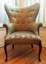 Vintage Wingback Green Floral Accent Arm Chair in Sugar Grove, Illinois