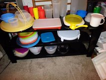 A bunch of vintage tupperware in Travis AFB, California
