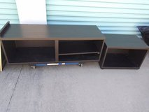 2 cabinets, or table, center multimedia different sizes  Maybe IKEA in Sacramento, California