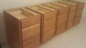 """LIKE NEW ""FOUR~18' ONE 15' DRAWER PACKS MEDIUM OAK in Joliet, Illinois"
