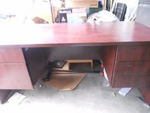 executive computer desk w/ drawers either side hanging file drawer 60323 in Fort Carson, Colorado
