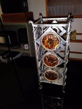 Metal Candle Holder with Amber Style Jewels attached in Travis AFB, California