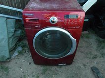 samsung maroon red vrt steam household washing machine local pickup / parts only  00352 in Huntington Beach, California