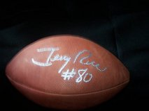Jerry Rice Signed Football in Travis AFB, California