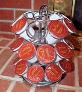 Chrome Coffee Pods Carousel - Holds 27 Pods - Excellent Condition! in Oswego, Illinois