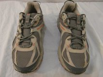 mens new balance all terrain 411 gray orange 9.5 lace up running athletic shoes  00092 in Huntington Beach, California