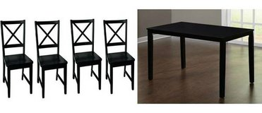 (7) pc Dining Table Set (Black) - NEW! in Bolingbrook, Illinois