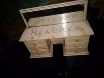 Heather Shabby Chic Jewelry box with Mirror in Travis AFB, California