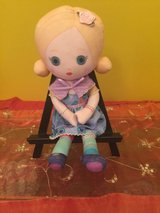 "Mooshka 12"" doll blonde hair  blue eyes  plush fabric doll Zapf Creation brand in Morris, Illinois"