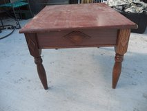 vintage solid wooden end table side table night stand wood - 60392 in Fort Carson, Colorado
