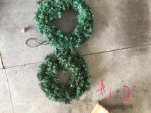 Lighted wreath in Clarksville, Tennessee