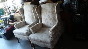 Vintage - 2 matching wing back chairs in Morris, Illinois