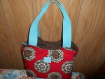 "Red Floral Design IGLOO Insulated Lined Zippered Bag! Pretty 16"" x 11"" x 8"" in Bellaire, Texas"