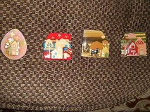 HOUSE Pins By LUCINDA!  Assortment of 4  CUTE!!     Very Colorful!!      House, Flag, Lilies, Co... in Bellaire, Texas