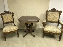 Vintage Victorian Eastlake Chairs and Table in Naperville, Illinois