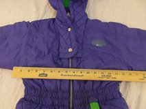 childrens vintage nm new moves sports 7/8 small purple green full snow suit  00370 in Huntington Beach, California