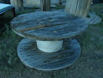 weathered wooden wire spool 42 x 20  00474 in Huntington Beach, California