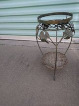 wicker and metal plant stand in Sacramento, California