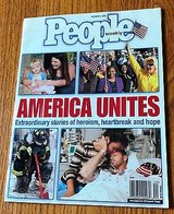 People Weekly Magazine October 1, 2001 America United 9/11 World Trade Center in Naperville, Illinois