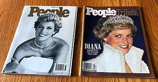 Lot of 2 People Magazine September 15, 1997 Fall 1997 Tribute to Princess Diana in Naperville, Illinois