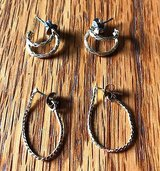 Lot of 2 gold tone Pierced Earrings Hoop Style in Naperville, Illinois