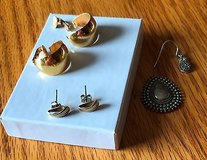 Lot of Broken Items and Gold Tone Post Pierced Earrings in Naperville, Illinois