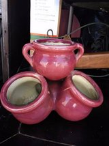 3 pottery plant bowls tiered in Sacramento, California