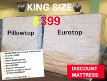 Brand New! KING MATTRESS CLOSEOUT! FREE DELIVERY! in Chicago, Illinois