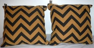 New! 2 Outdoor Patio Chevron Throw / Accent Pillows in Bolingbrook, Illinois