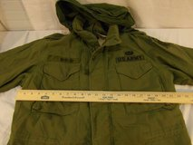 vintage military mans field cold weather olive drab medium regular hooded coat  00544 in Fort Carson, Colorado