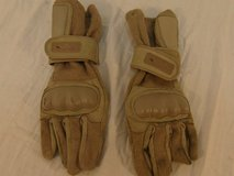 wiley-x desert tan large plastic knuckles deployment tactical gloves  00556 in Huntington Beach, California