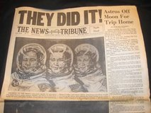 """""""THEY DID IT!"""" Neil Armstrong Newspaper July 21 1969 TNT Tacoma Wash in Fort Lewis, Washington"""