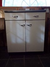 Cabinet*Vintage*Metal with Porcelain*Stainless Steel Top in Fort Leonard Wood, Missouri