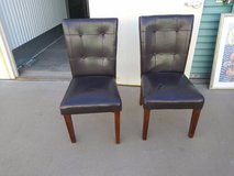2-Set Dining Chairs Kichen Dinner Table Seating Dark Brown Faux Leathe in Roseville, California
