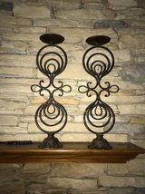 Iron candle holders in Bartlett, Illinois