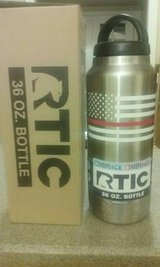Rtic 36oz Bottle w/ Flag & Fireman Red Line in Byron, Georgia