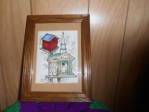 "Framed Matted Picture of Birdhouses!  Picture protected in glass.  8 1/2"" x 6 1/2"" in Bellaire, Texas"