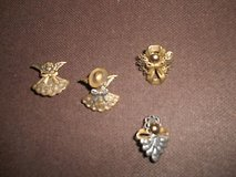 Vintage (4) Brass Angel Pins!     Mixture of Yellow and Silver Goldtone des... in Bellaire, Texas