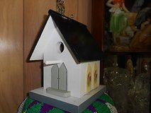 "Home Made Wood Birdhouse Feeder Church. No Steeple! Has Hook to Hang!  9"" x 6"" in Bellaire, Texas"