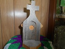 "Homemade Natural Wood Birdhouse Church With Cross!      Measures:  8 1/2"" x 8 1/2""  Ve... in Bellaire, Texas"